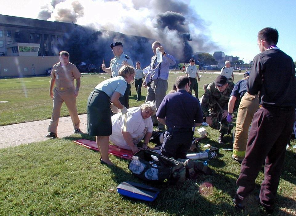 Záběry na Pentagon krátce po teroristickém útoku