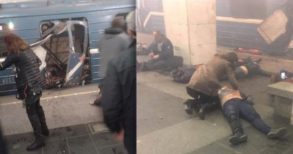 Metrem v ruském Petrohradu otřásl výbuch.
