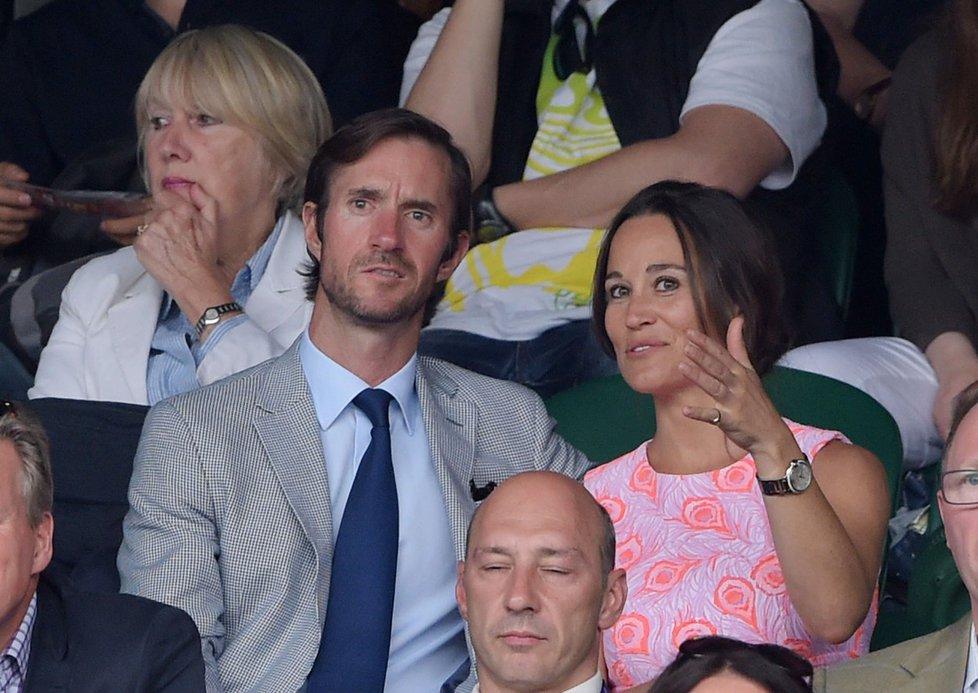 Pippa Middleton a její nastávající James Matthews