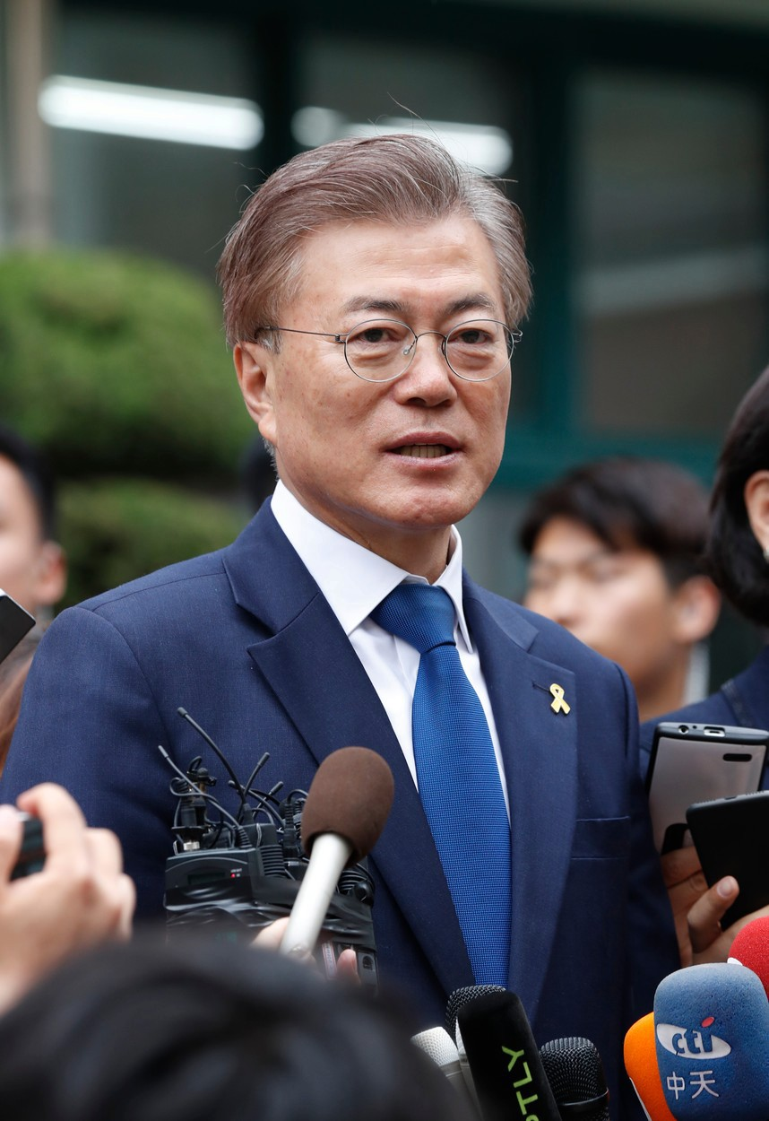 Jihokorejský prezident Mun Če-in.