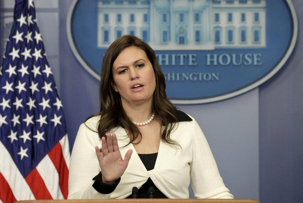 Mluvčí Bílého domu Sarah Sandersová