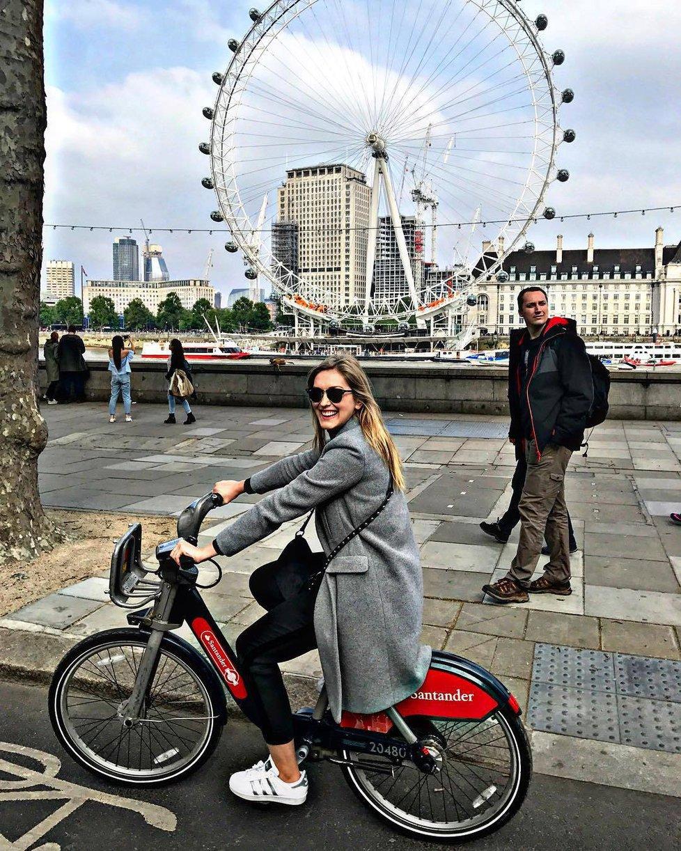 Zorka Hejdová v Londýně.
