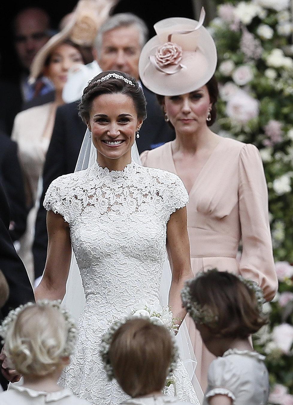 Vévodkyně Kate na svatbě sestry Pippy