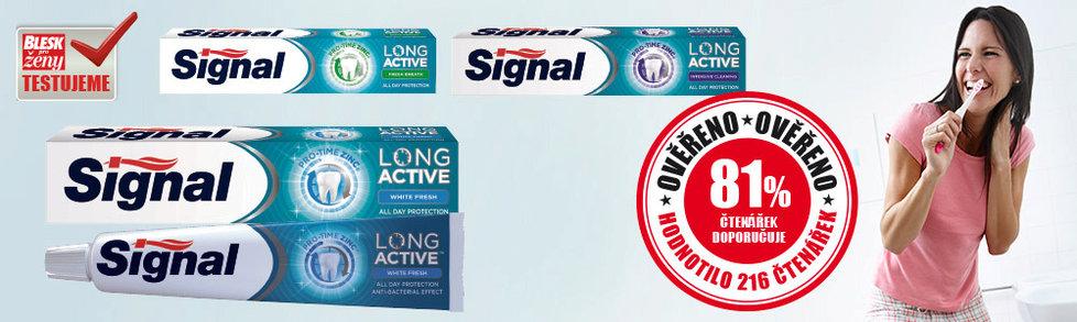 Dotestováno: Jak obstála zubní pasta Signal s dlouhotrvající ochranou proti zubnímu kazu?