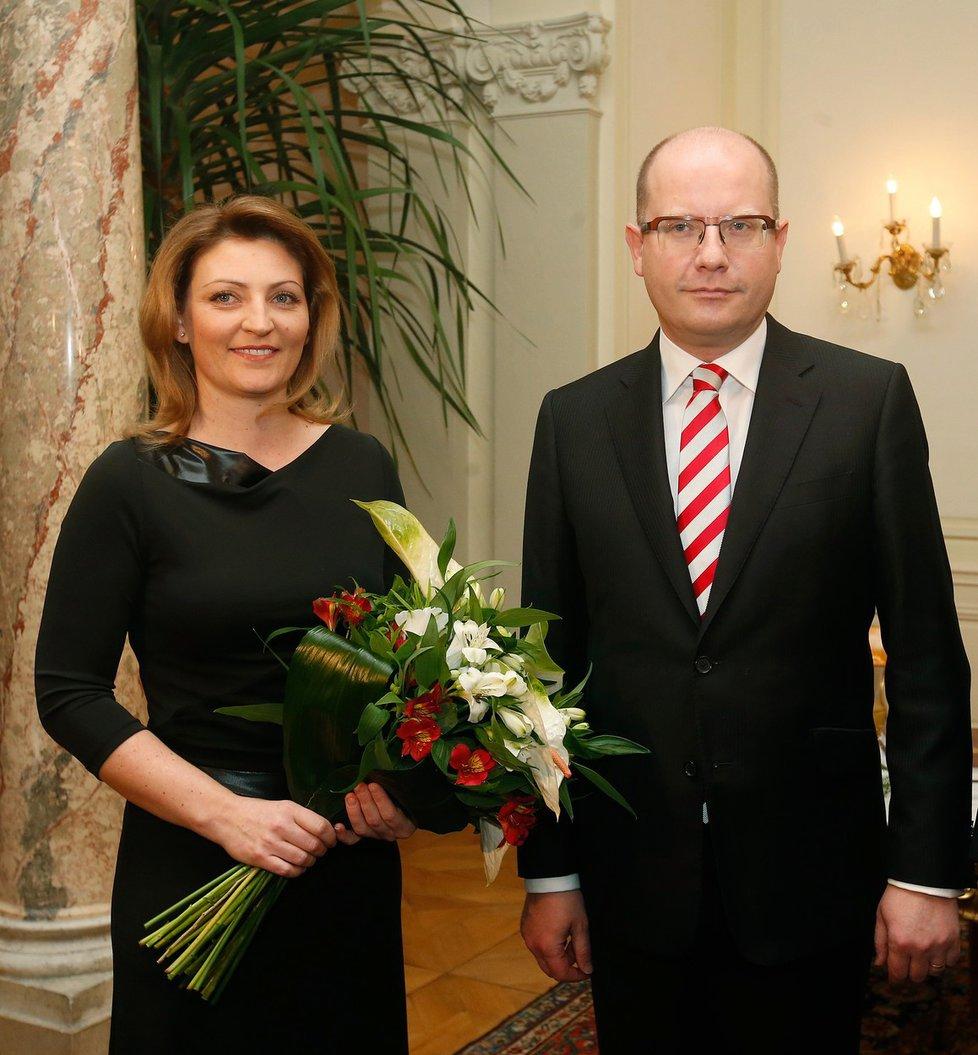 Bohuslav Sobotka s ženou Olgou.