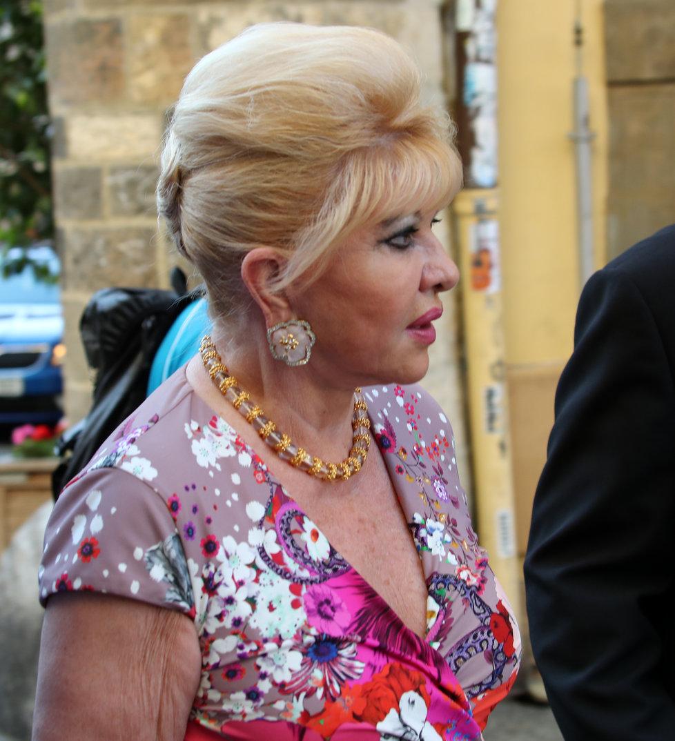 Ivana Trump na návštěvě Prahy