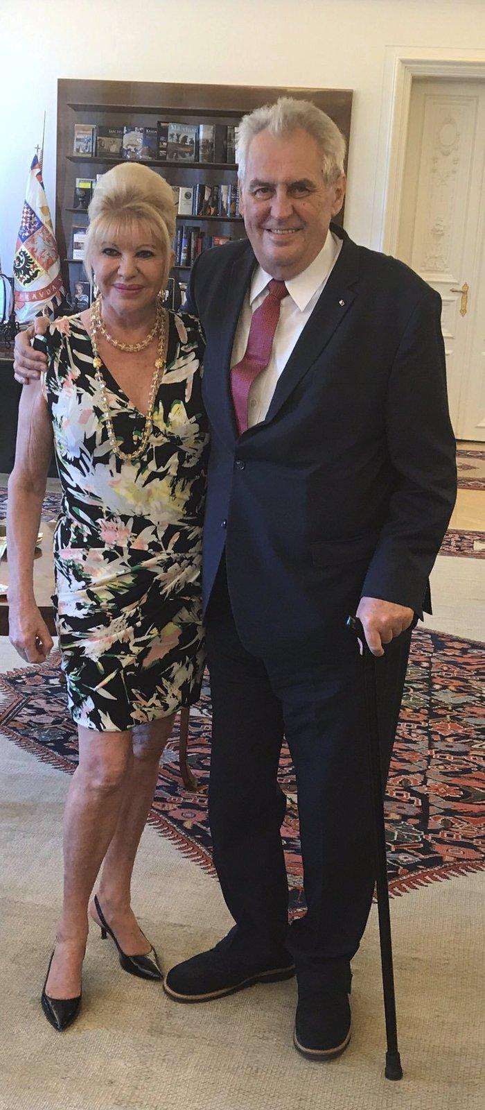 Prezident Miloš Zeman se sešel s Ivanou Trump.