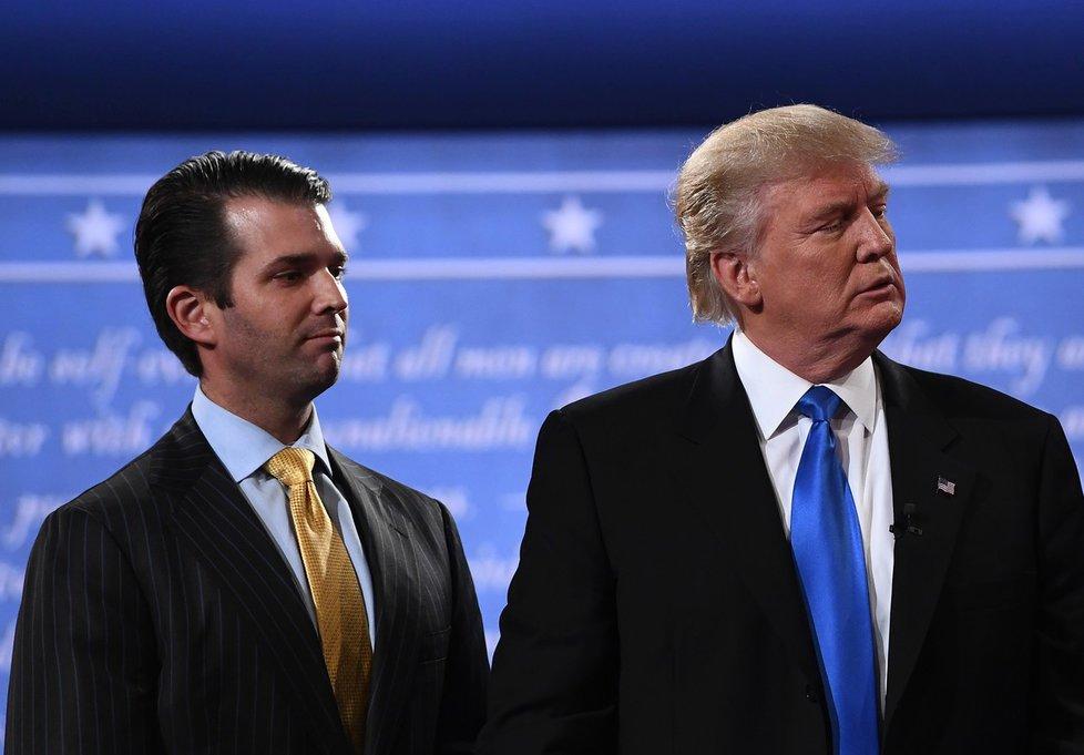 Syn amerického prezidenta Donad Trump junior se svým otcem