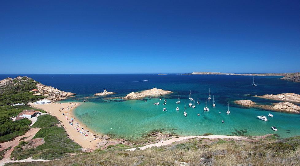 Pláž Pregonda, Menorka (Španělsko)