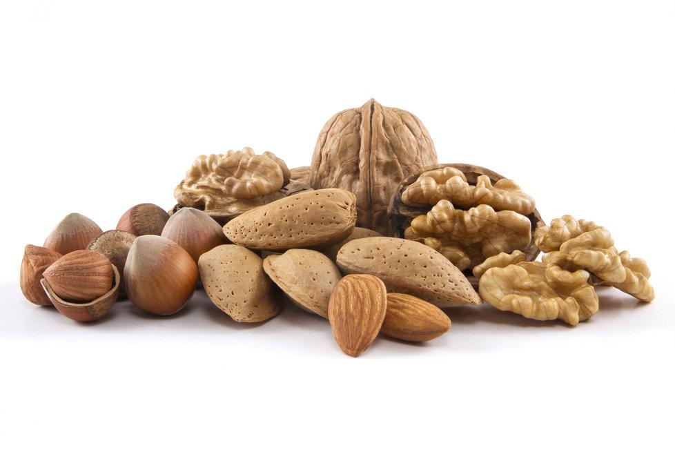 Ořechy jsou skvělým zdrojem omega 3 mastných kyselin.