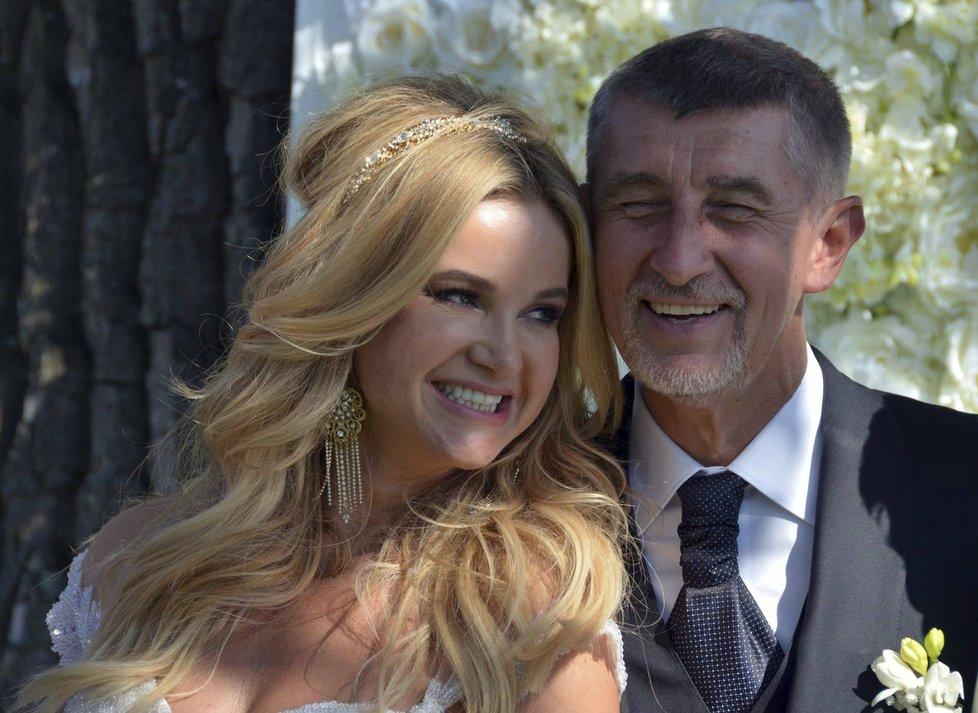Svatební oslavy Andreje a Moniky Babišových.