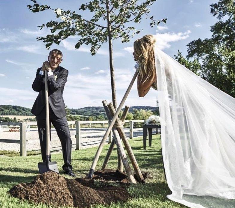 Babišovi se na Čapím hnízdě také vzali.