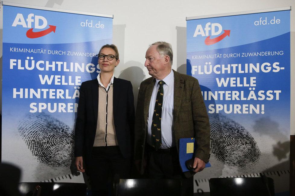 Dvojice volebních lídrů AfD Weidelová a Gauland