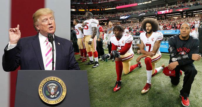 Donald Trump se obořil an americké fotbalisty za jejich protestní klečení.