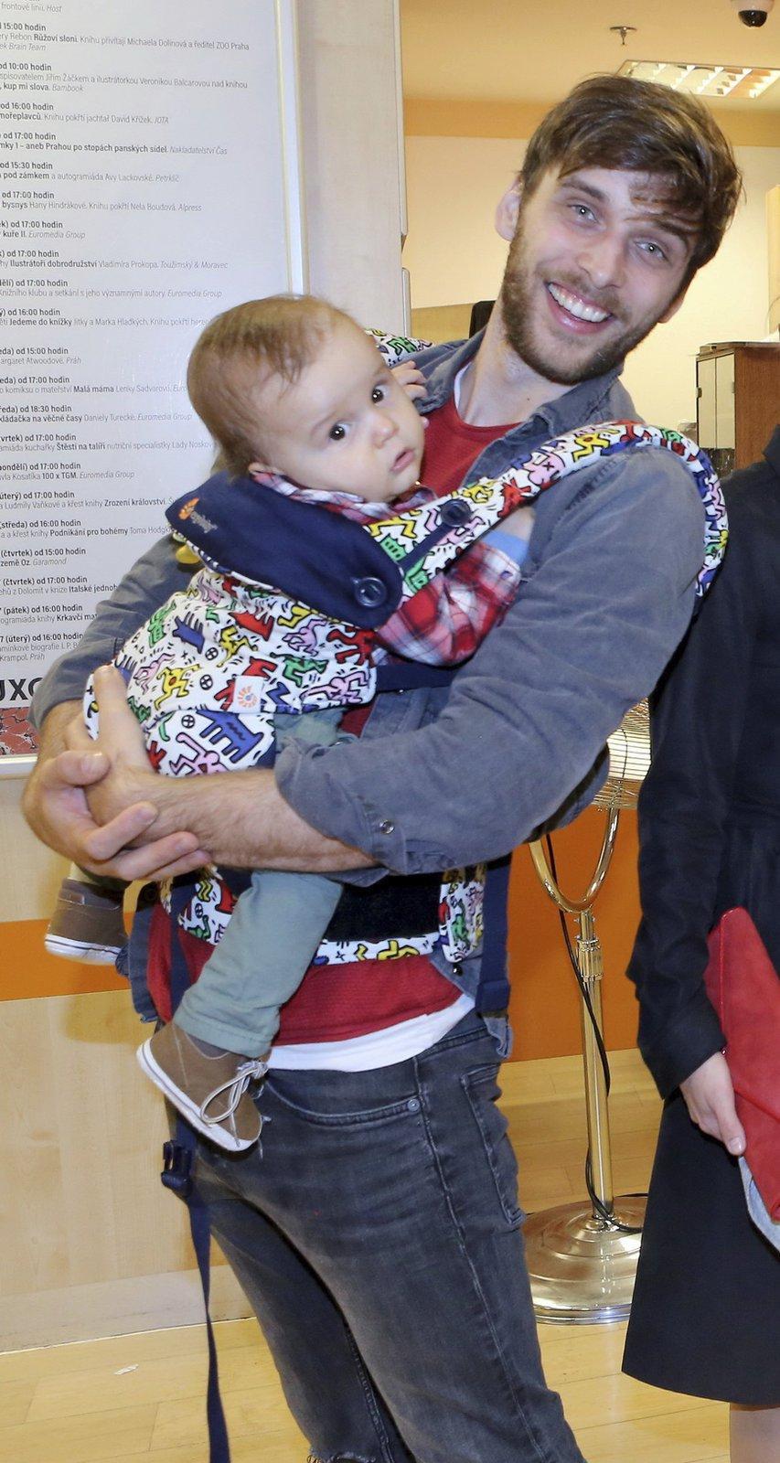 Roman Tomeš se synem Kristiánem
