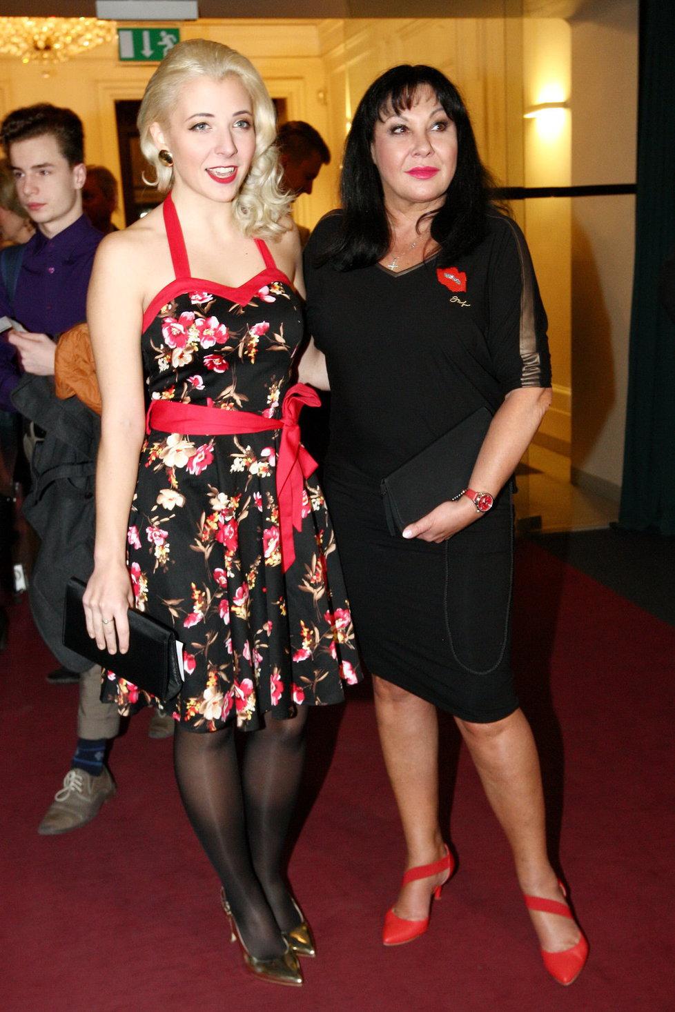 Dáda Patrasová s dcerou Annou Slováčkovou