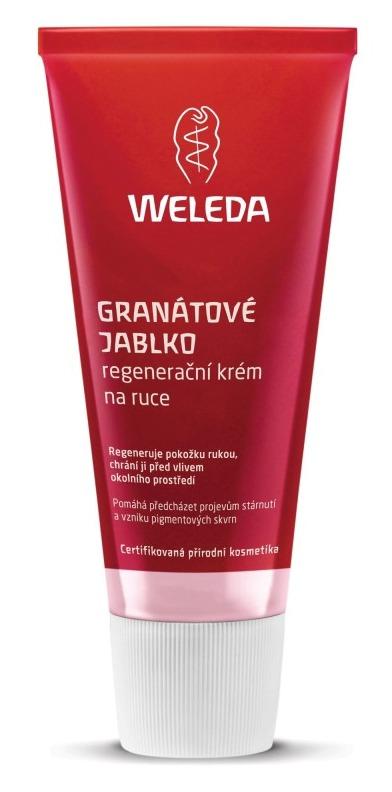 Regenerační krém na ruce Granátové jablko, Weleda, 239 Kč (50 ml). Koupíte na www.weleda.cz.