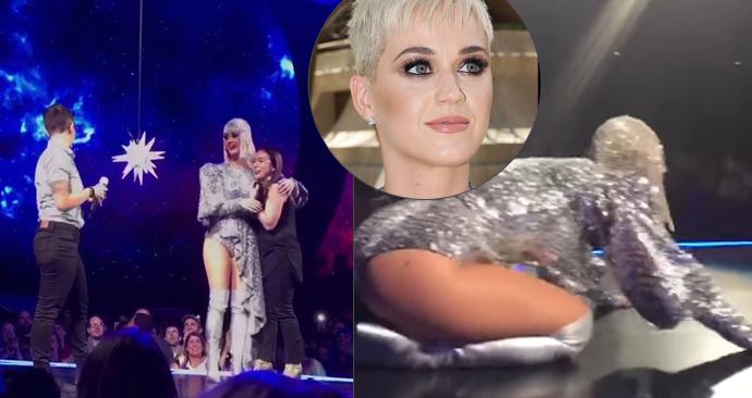 Fanoušci Katy Perry jí vlezli na pódium! Vyrazili jí dech žádostí o ruku.