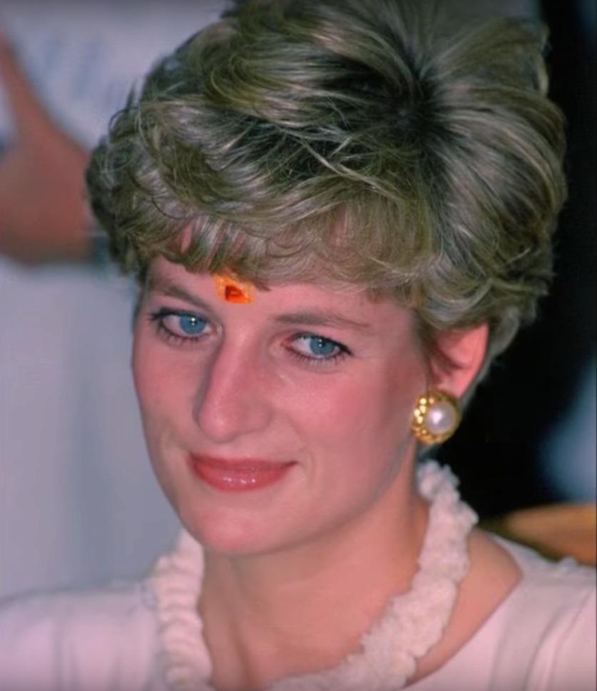 …stejnou tečku si nechala udělat i Diana.