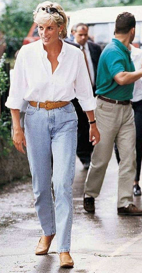 Diana měla ráda pohodlný styl.