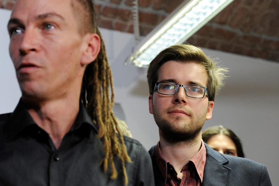Jakub Michálek po boku Ivana Bartoše (Piráti)