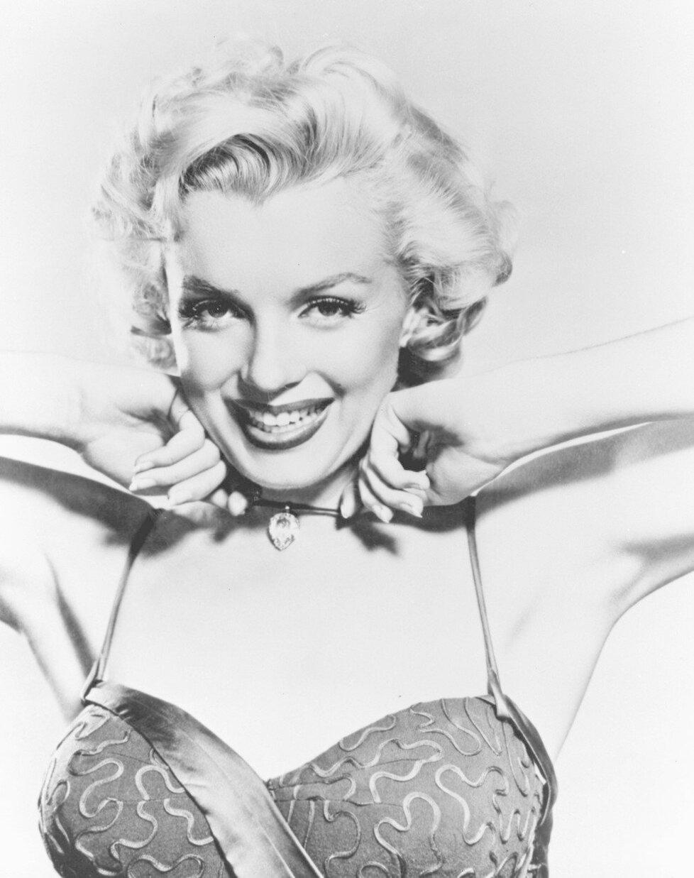 Marilyn Monroe na fotce z roku 1953.