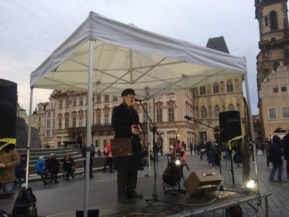 Hayato Okamura na Staroměstském náměstí