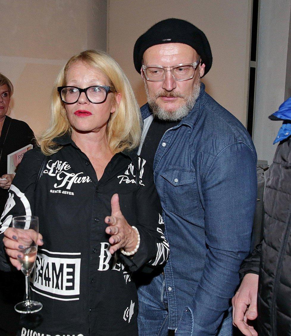 Tomáš Linhart s bývalou manželkou Jitkou Asterovou