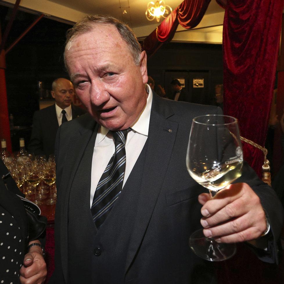 Vítězslav Jandák na představení Fantom opery