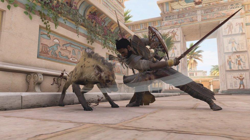 Plíživá akce Assassin's Creed Origins ze starověkého Egypta.