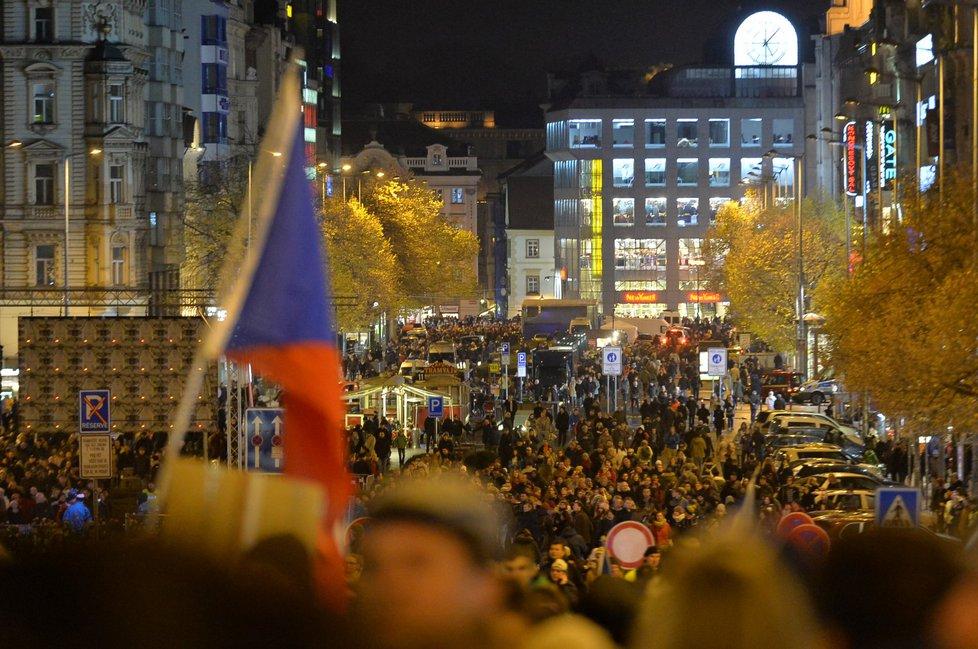Večerní koncert na Václavském náměstí, 17. listopad 2017