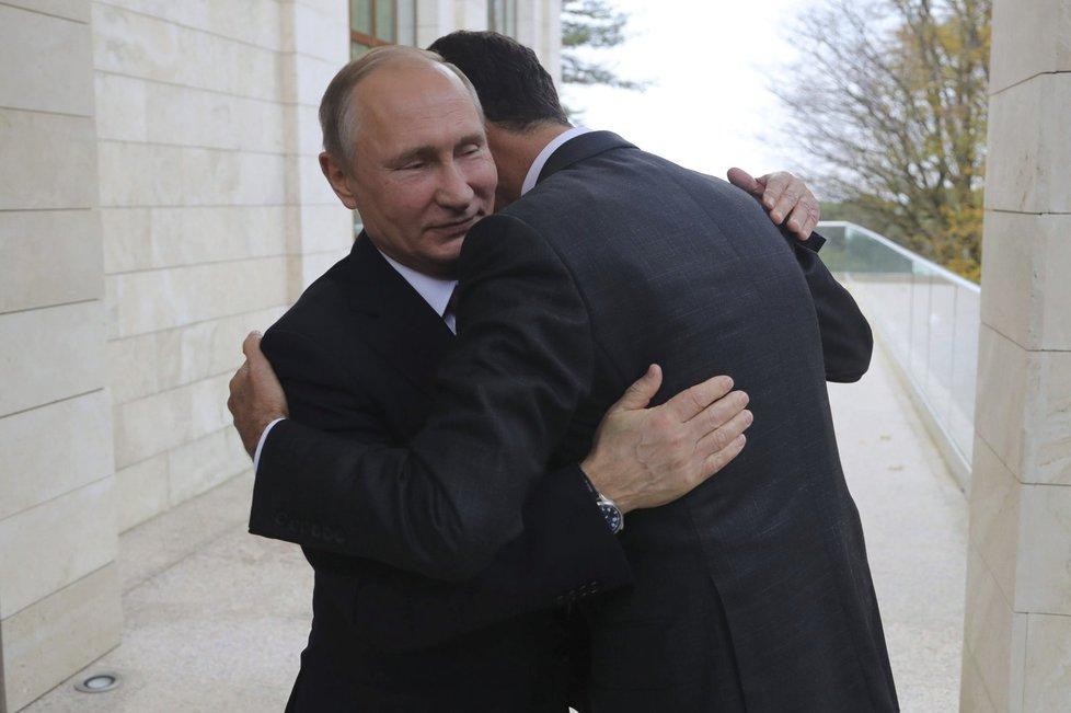 Vladimir Putin a Bašar Asad