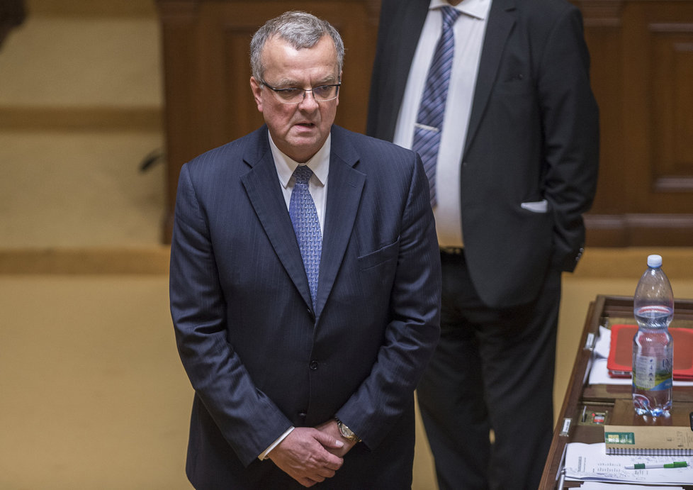 Miroslav Kalousek během ustavující schůze nové Sněmovny