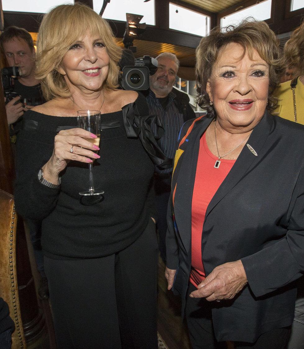 Jiřina Bohdalová s Hankou Zagorovou.