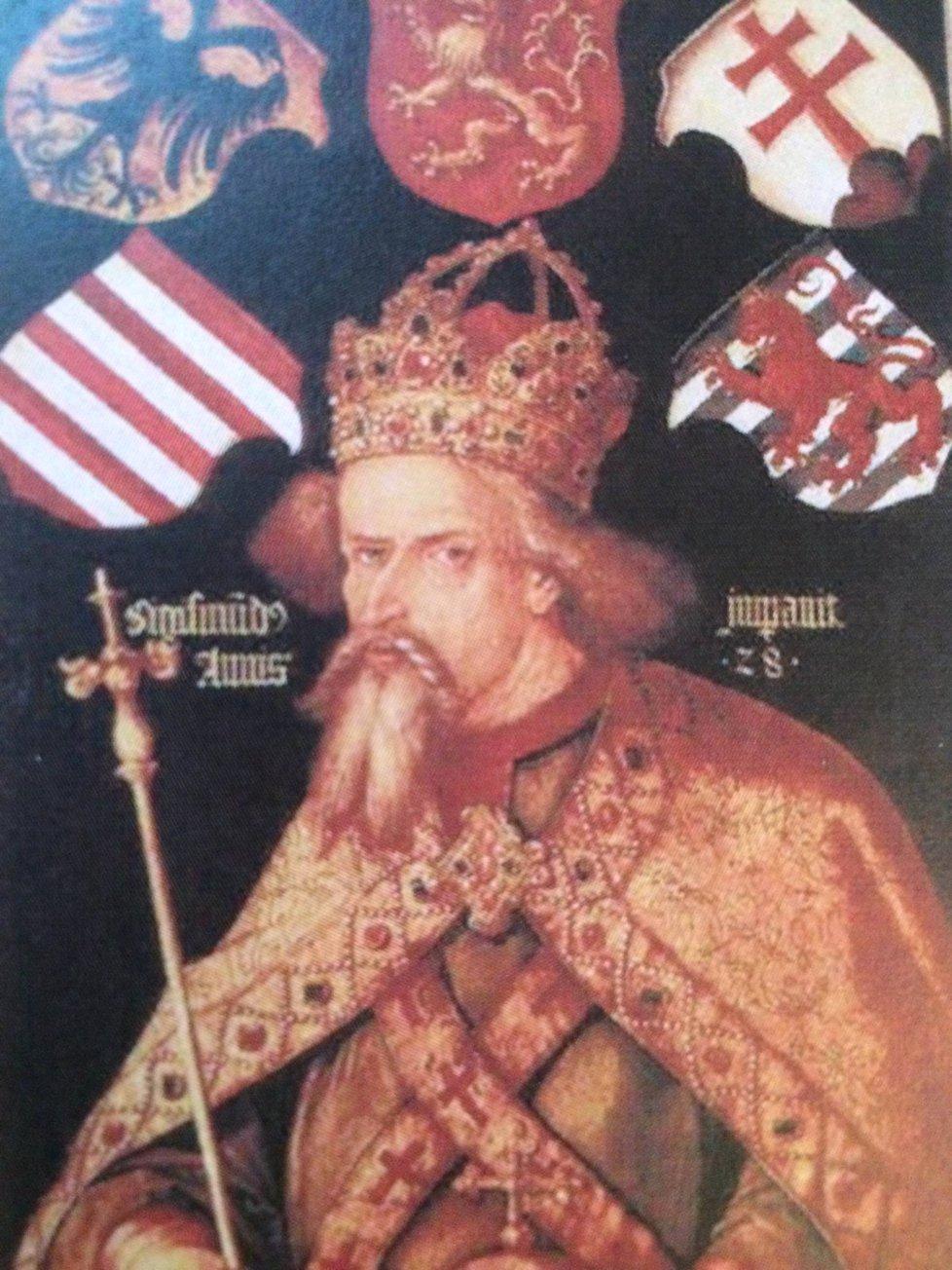 Zikmund Lucemburský na malbě Albrechta Dürera.