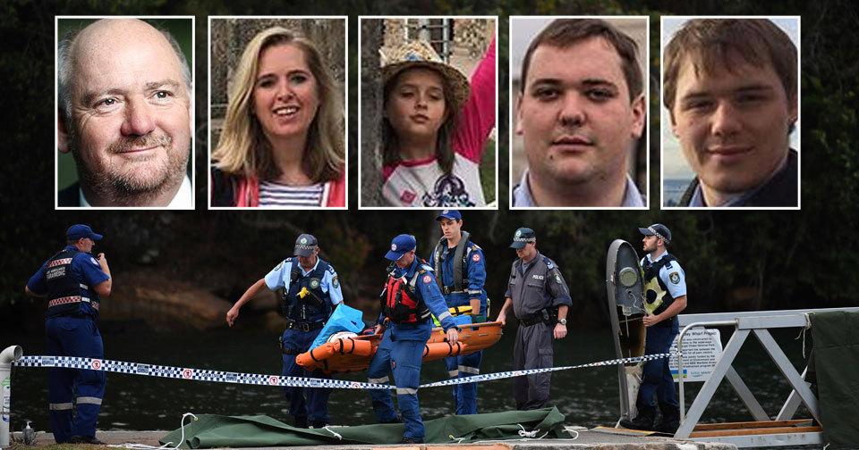 Oběti havárie: Richard Cousins se syny Edwardem a Williamem, Emma Bowdenová s dcerou Heather