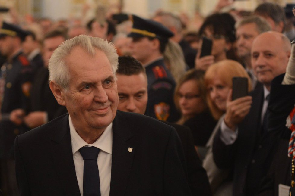Prezident Miloš Zeman na hradním galavečeru