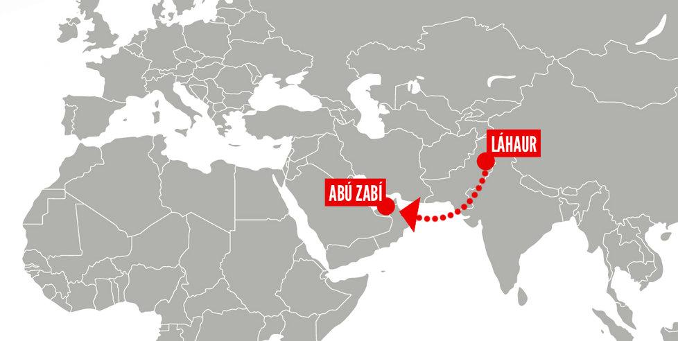 Tereza chtěla odletět z pákistánského Láhaur do Abú Zabí