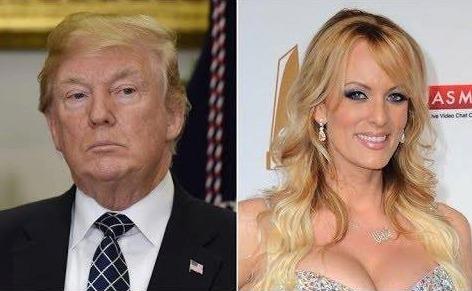 Donald Trump s pornoherečkou Stormy Daniels aka Stephanií Clifordovou.