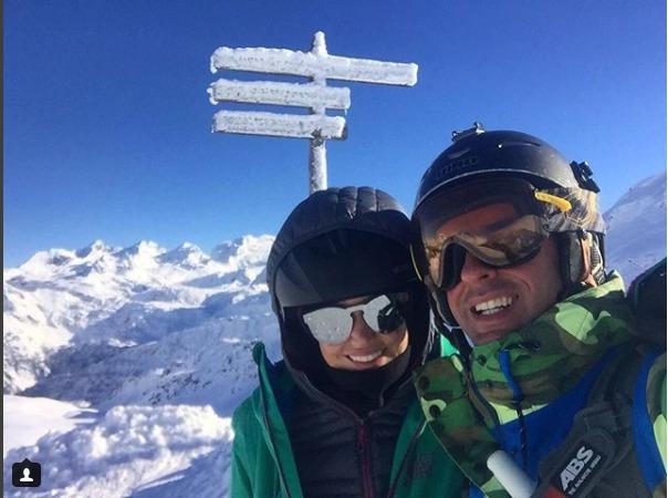 Lucie Smatanová s přítelem na horách