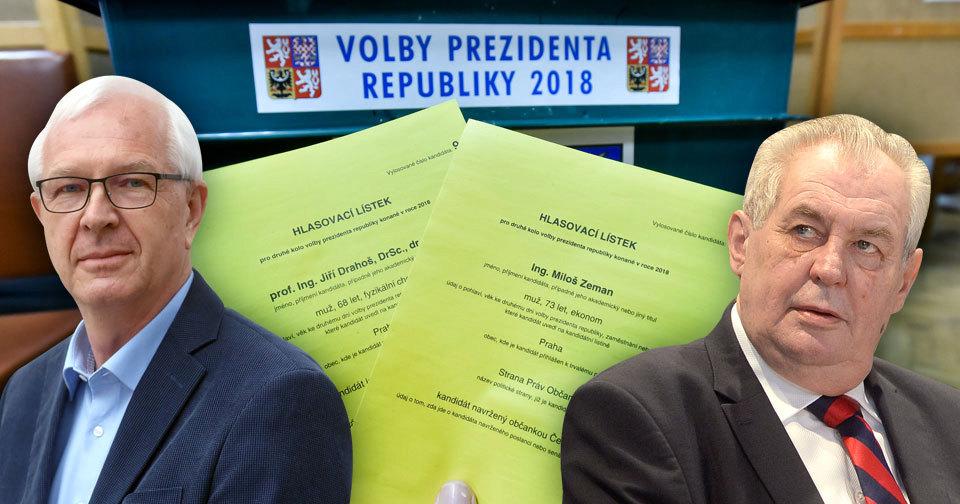 Češi si ve volbách vybírali mezi Jiřím Drahošem a Milošem Zemanem