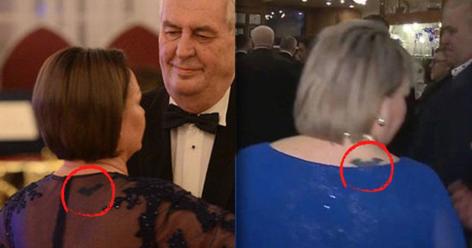 První dáma Ivana Zemanová má na šíji tetování. Prokouklo skrze její šaty.