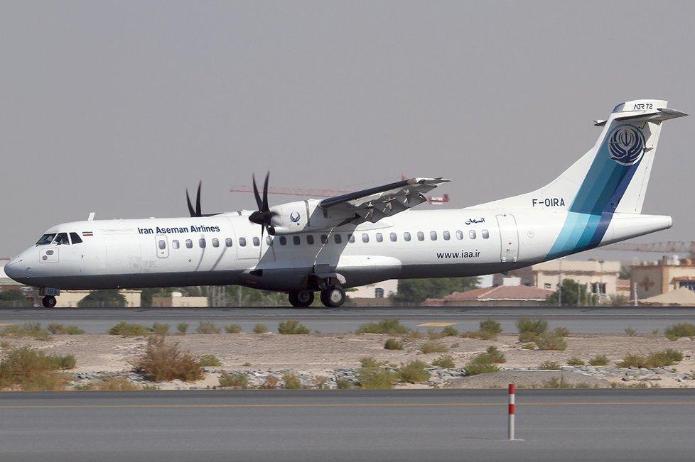 Letadlo typu ATR-72 íránské společnosti Aseman Airlines havarovalo: 65 mrtvých