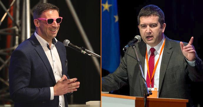 Dva finalisté volby předsedy ČSSD: Jiří Zimola a Jan Hamáček