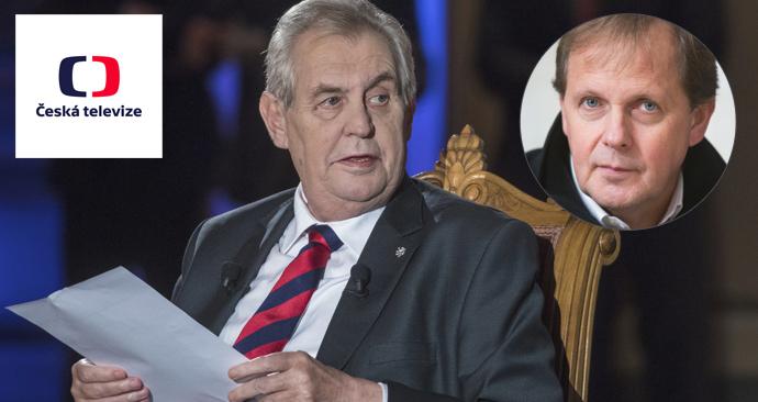 Miloš Zeman se opět opřel do České televize, její ředitel Dvořák se brání