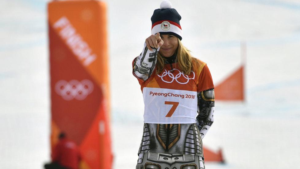 Vítězné gesto Ester Ledecké