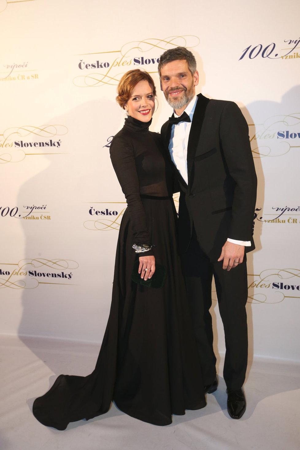 Andrea Kerestešová Růžičková s manželem Mikolášem