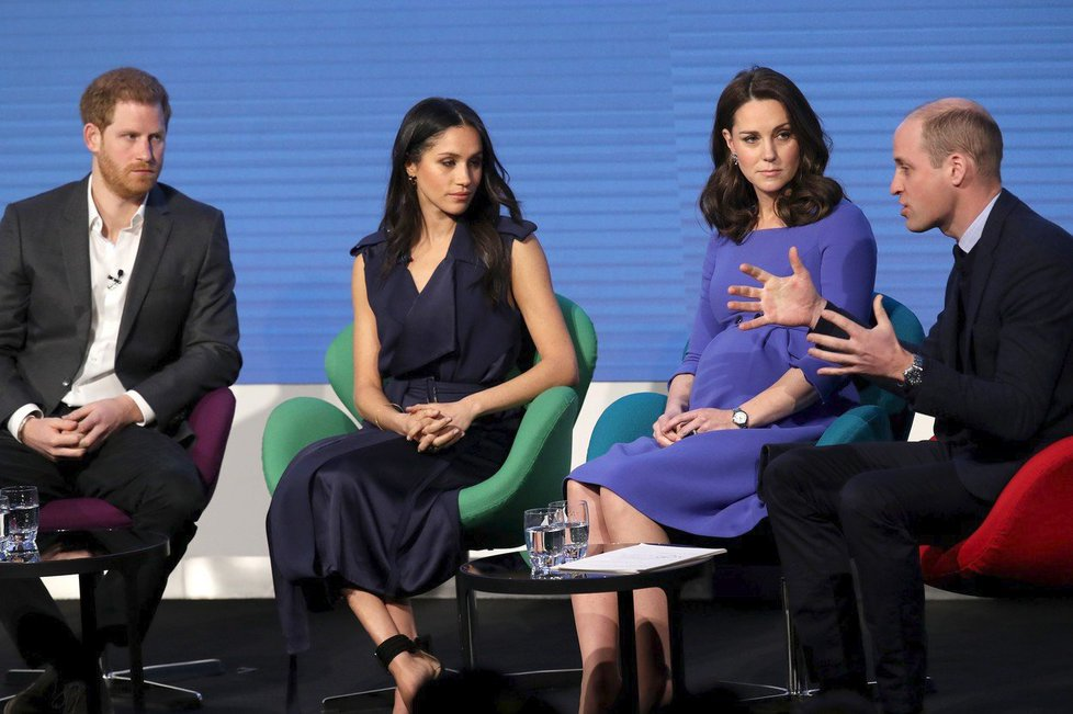 Harry, Meghan, Kate a William