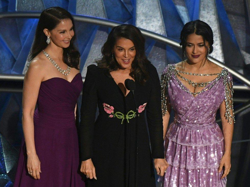 Ashley Judd, Annabella Sciorra a Salma Hayek na Oscarech