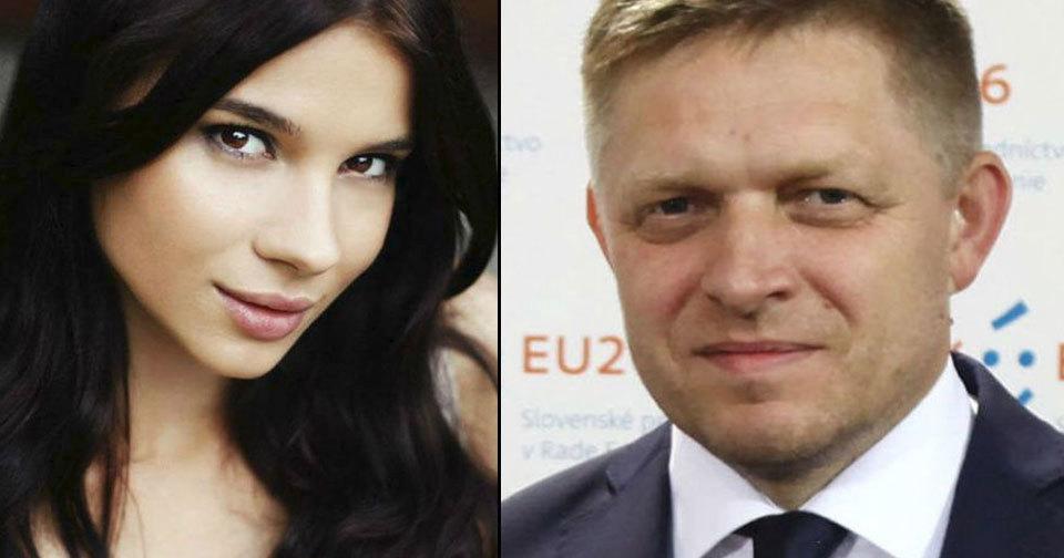 Slovenský premiér Robert Fico a Mária Trošková.